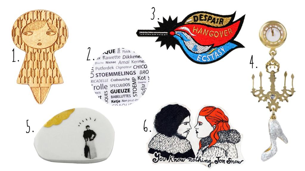 Les broches anthropomorphiques ou inspirées de la pop culture