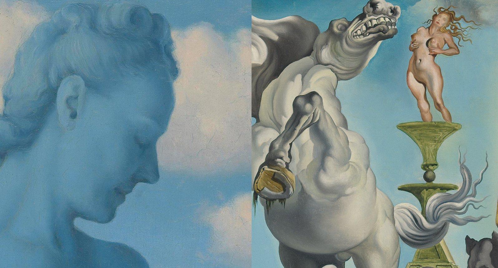 René Magritte et Salvador Dalí